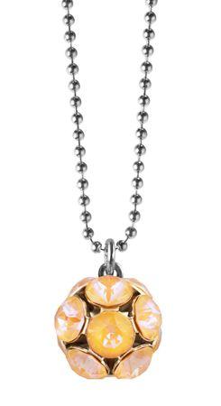 Shiny Ball Glitzerkugel an extra langer, silberfarbener Kette – Bild 2