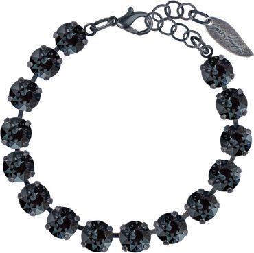 Klassik Armband Medium mit 9mm Swarovski®-Kristallen, schwarz versilbert – Bild 5