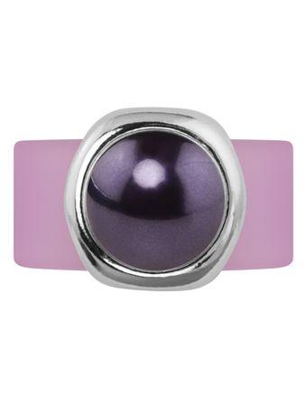 Pearly Bulg Kautschukring mit Swarovski®-Cabochon-Pearl in silberfarbener Fassung – Bild 12