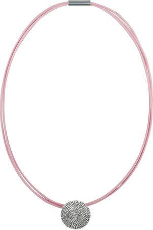 Rhodiniertes Zinnguss-Medaillon Fizzy Froth an 45 cm Baumwollwachskette – Bild 4