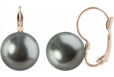Perlen-Ohrhänger Large, rosé vergoldet mit 12mm Swarovski® Pearl – Bild 4