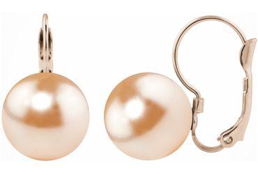 Perlen-Ohrhänger Large, rosé vergoldet mit 12mm Swarovski® Pearl – Bild 14