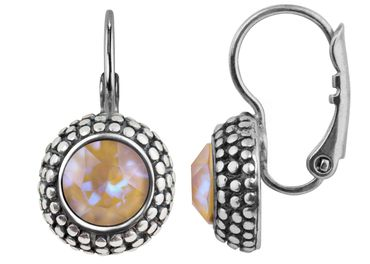 Earring with 6mm Swarovski Chaton, rosegold plated – Bild 3
