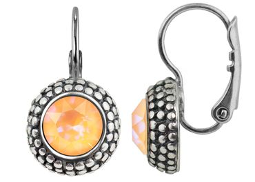 Earring with 6mm Swarovski Chaton, rosegold plated – Bild 9