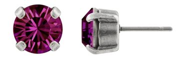 Classical Stud with Swarovski Chaton Crystal 6mm, silver plated – Bild 8
