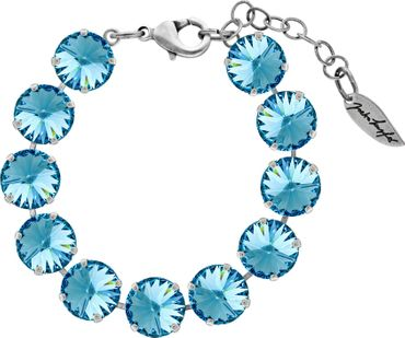 Bracelet with 12mm Rivoli, silver plated – Bild 1