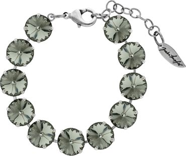 Bracelet with 12mm Rivoli, silver plated – Bild 2