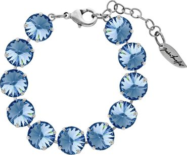 Bracelet with 12mm Rivoli, silver plated – Bild 13