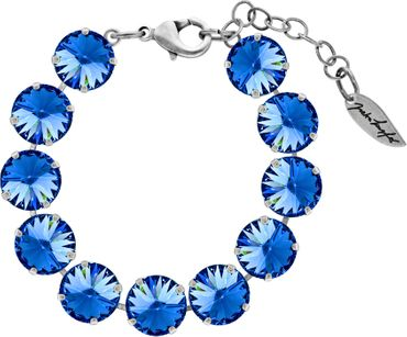 Bracelet with 12mm Rivoli, silver plated – Bild 22