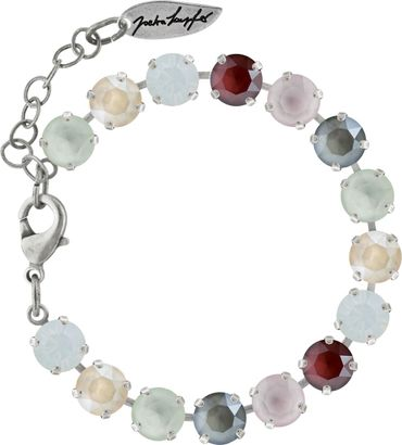 Classical bracelet with 9mm Swarovski chatons, mixed colors, silver plated – Bild 12