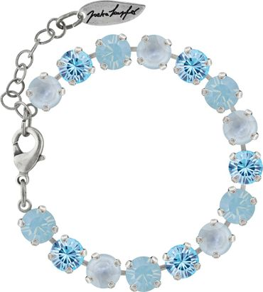 Classical bracelet with 9mm Swarovski chatons, mixed colors, silver plated – Bild 6