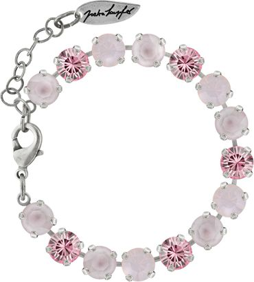 Classical bracelet with 9mm Swarovski chatons, mixed colors, silver plated – Bild 9