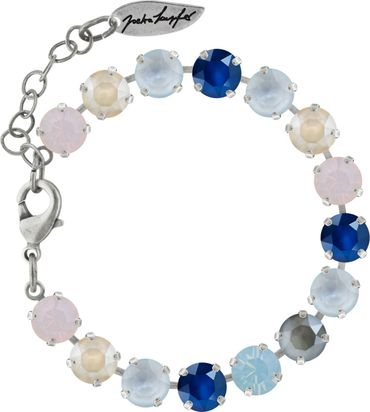 Classical bracelet with 9mm Swarovski chatons, mixed colors, silver plated – Bild 15