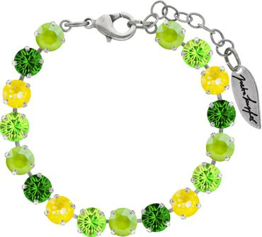 Classical bracelet with 6mm Swarovski chatons, mixed colors, silver plated – Bild 10