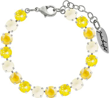 Classical bracelet with 6mm Swarovski chatons, mixed colors, silver plated – Bild 8