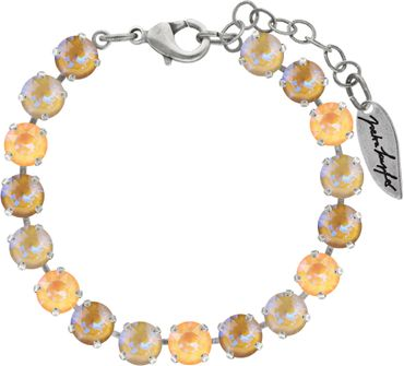 Classical bracelet with 6mm Swarovski chatons, mixed colors, silver plated – Bild 11