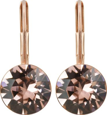 classical earring with 9mm Swarovski chaton, rosegold plated – Bild 18