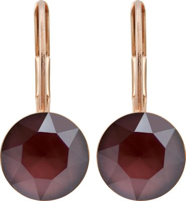 classical earring with 9mm Swarovski chaton, rosegold plated – Bild 5