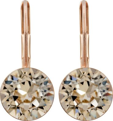classical earring with 9mm Swarovski chaton, rosegold plated – Bild 14