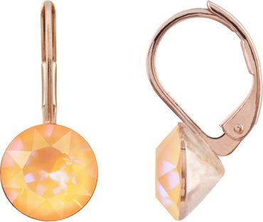 classical earring with 9mm Swarovski chaton, rosegold plated – Bild 21