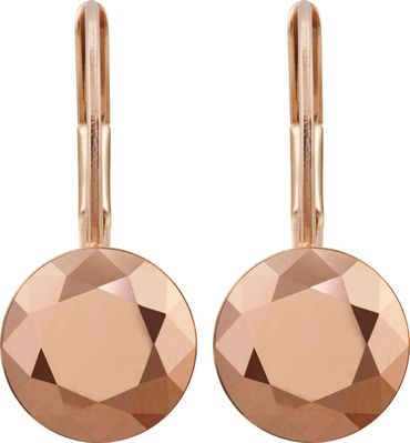 classical earring with 9mm Swarovski chaton, rosegold plated – Bild 11
