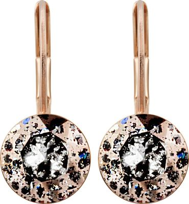 classical earring with 9mm Swarovski chaton, rosegold plated – Bild 13
