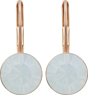 classical earring with 9mm Swarovski chaton, rosegold plated – Bild 22