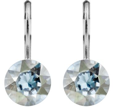classical earring with 9mm Swarovski crystal, silver plated – Bild 16
