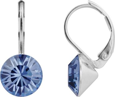 classical earring with 9mm Swarovski crystal, silver plated – Bild 19