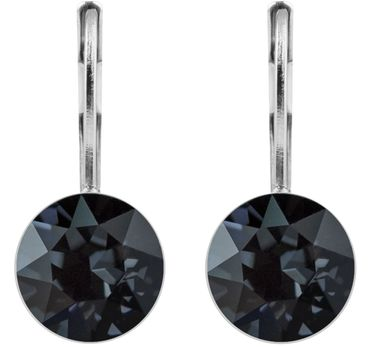 classical earring with 9mm Swarovski crystal, silver plated – Bild 24