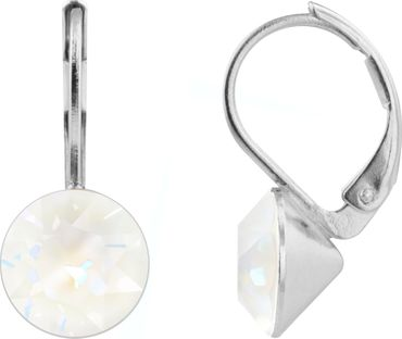 classical earring with 9mm Swarovski crystal, silver plated – Bild 7