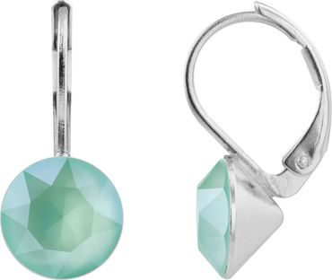 classical earring with 9mm Swarovski crystal, silver plated – Bild 11