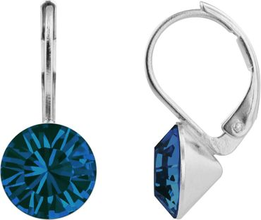 classical earring with 9mm Swarovski crystal, silver plated – Bild 15