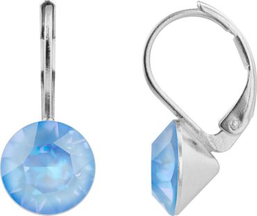 classical earring with 9mm Swarovski crystal, silver plated – Bild 4