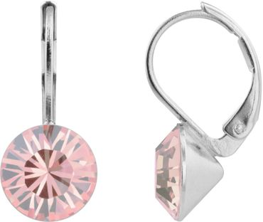 classical earring with 9mm Swarovski crystal, silver plated – Bild 13