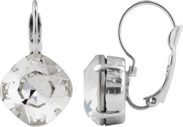 Silver Plated Bead Drop Earrings made with Crystals from Swarovski® Squad stone 12 mm – Bild 2