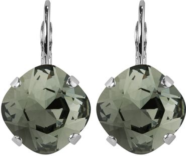 Silver Plated Bead Drop Earrings made with Crystals from Swarovski® Squad stone 12 mm – Bild 6