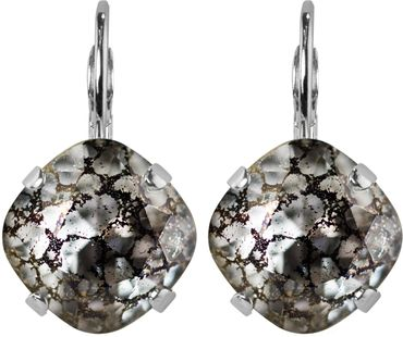 Silver Plated Bead Drop Earrings made with Crystals from Swarovski® Squad stone 12 mm – Bild 7