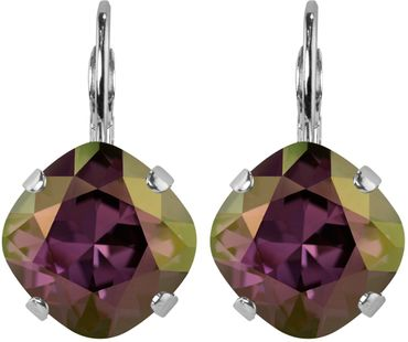 Silver Plated Bead Drop Earrings made with Crystals from Swarovski® Squad stone 12 mm – Bild 22