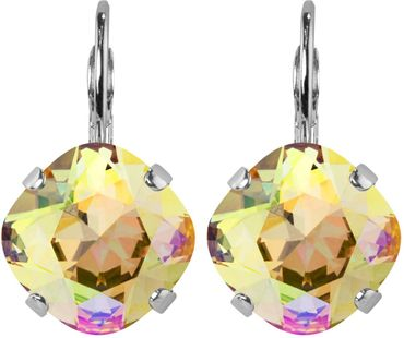 Silver Plated Bead Drop Earrings made with Crystals from Swarovski® Squad stone 12 mm – Bild 23
