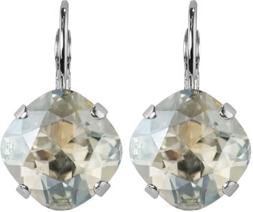 Silver Plated Bead Drop Earrings made with Crystals from Swarovski® Squad stone 12 mm – Bild 24