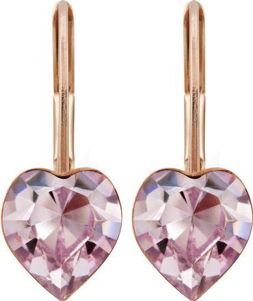 Ohrhänger Herz, rosé vergoldet – Bild 6