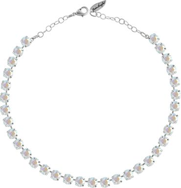 Classical Necklace with 9mm Swarovski Crystals, silver plated – Bild 18
