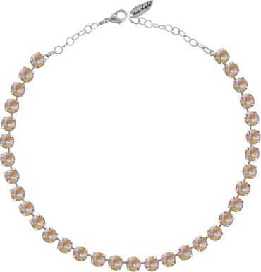Classical Necklace with 9mm Swarovski Crystals, silver plated – Bild 15