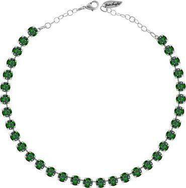 Classical Necklace with 9mm Swarovski Crystals, silver plated – Bild 8