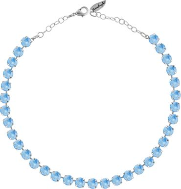 Classical Necklace with 9mm Swarovski Crystals, silver plated – Bild 21