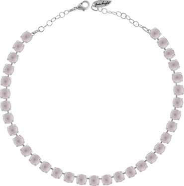 Classical Necklace with 9mm Swarovski Crystals, silver plated – Bild 1