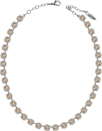 Classical Necklace with 9mm Swarovski Crystals, silver plated – Bild 22