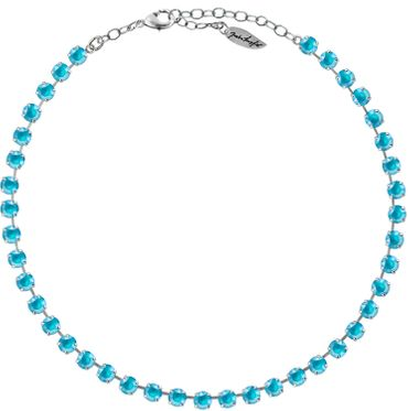 Classical Necklace with 6mm Swarovski Crystals, silver plated,plain colored – Bild 18