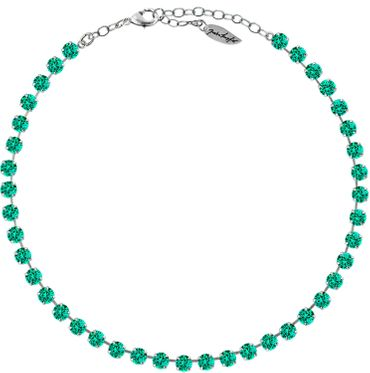 Classical Necklace with 6mm Swarovski Crystals, silver plated,plain colored – Bild 7